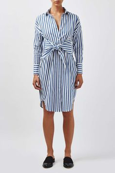 Stripe Tie-Front Dress by Boutique - Topshop USA