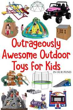 Outrageously Amazing Toys for the Backyard These are the best, most envy-worthy toys for the crowd. Put any one of these toys in your backyard and impress your friends with Outdoor Gifts For Kids, Best Outdoor Toys, Outside Toys For Kids, Backyard Toys For Kids, Toddler Boy Gifts, Toddler Toys, Kids Gifts, Toddler Outdoor Toys, 3 Year Old Birthday Gift