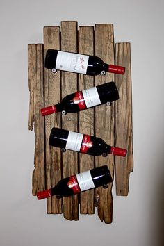 Barn Board/ Reclaimed wood wine rack. Fully custom built!