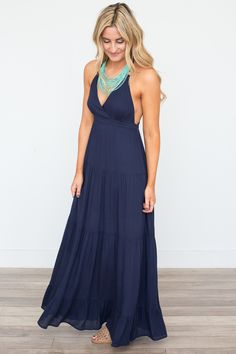 b75d1692d548 Tiered T-Back Maxi Dress - Navy - Magnolia Boutique Magnolia Boutique,  Stitch Fix