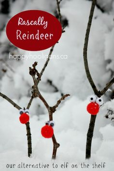 rascally reindeer - twig reindeer ornaments
