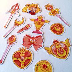 Sailor Moon Accessory Sticker Set by PeachPulpHouse on Etsy
