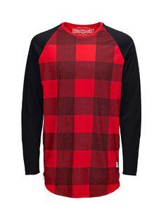 ORIGINALS by JACK & JONES - Langärmeliges T-Shirt von ORIGINALS - Lange Passform - Rundhalsausschnitt - Raglan-Ärmel - Gerundeter Saum mit Reißverschluss an den Seiten - Das Modell trägt Größe L und ist 187 cm groß 100% Baumwolle...