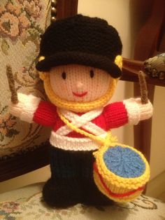 Knitted toy soldier I made for my son :)