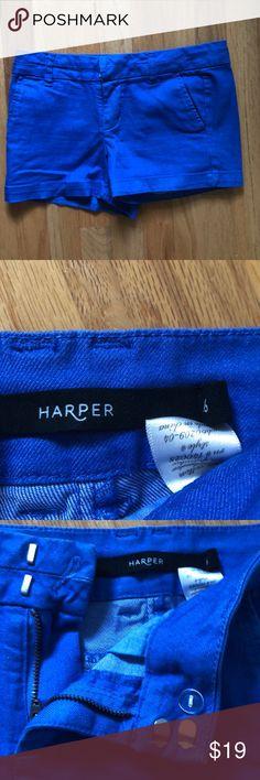 Harper Blue Shorts Royal blue shorts from Francesca's Harper Shorts