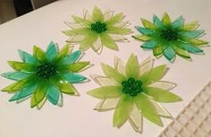 360 Fusion Glass Blog: Fused Glass Plates working with flowers
