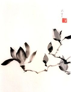 Sumi-e: Art/ELA: This art form, often accompanied by haiku, would lend itself well to a poetry unit. Meanwhile, children would also learn about value and gradation. Sumi E Painting, Korean Painting, Japanese Painting, Chinese Painting, Chinese Art, Chinese Brush, Watercolor And Ink, Watercolor Flowers, Art Asiatique