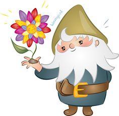 Kabouter Twinkel helpt een bloem! Kijk op www.kimmys.nl om ook voordelig een cartoon te laten tekenen!