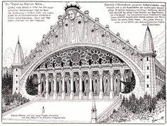 Hugo Höppener (Fidus), Temple designs, 1897-98