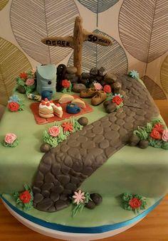Rambler cake for those who love walking ❤ Mum Birthday, Birthday Cakes, Fondant, Cake Cookies, Cupcakes, Nature Cake, Retirement Cakes, Golden Anniversary, Novelty Cakes