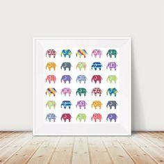 Elephant cross stitch pattern PDF Instant Download por KnitSewMake