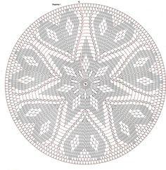 Only Crochet Patterns Archives – Beautiful Crochet Patterns and Knitting Patterns – mahimah nemati - Crochet Crochet Doily Diagram, Crochet Doily Patterns, Crochet Chart, Thread Crochet, Filet Crochet, Crochet Stitches, Knitting Patterns, Crochet Gratis, Crochet Circles