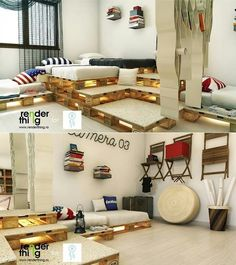 Europaletten-Couch