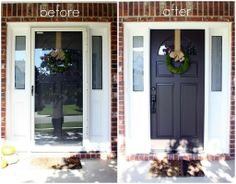 Just say no to storm doors - tutorial. After this weekend's festivities I determined just how much I dislike ours. So its going away