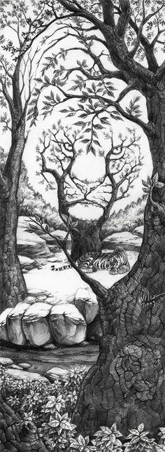 The Sleeping Tiger by willustration / könnte als Konzentrationsaufgabe genutzt werden