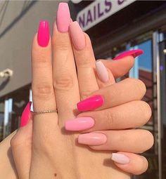 Best Acrylic Nails, Acrylic Nail Designs, Acrylic Art, Cute Nails, Pretty Nails, Gel Nails, Nail Polish, Glitter Nails, Neon Pink Nails