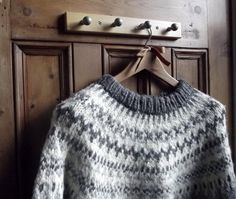 Nordic icelandic sweater. I wish my cardigan from the 80's looked this good! I think I still have it somewhere....