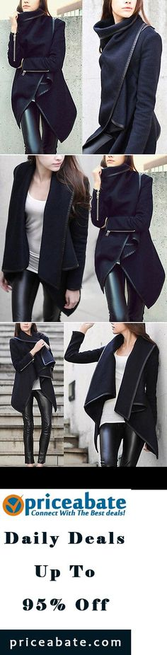 #priceabatedeals Womens Thicken Warm Winter Woolen Trench Coat Parka Overcoat Long Jacket Outwear - Buy This Item Now For Only: $11.98