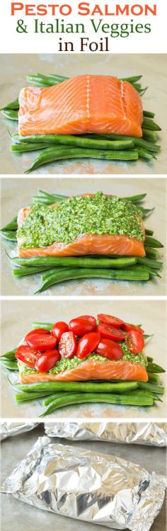 Salmon in general is very easy on the teeth. I would substitute the green beans with asparagus, and one could use red pesto, too. Served with mashed poatatoes, this is great for days 2 or 3 after adjustment.