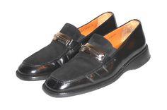 Mezlan Men's Black Leather & Suede Buckle Loafer Shoe Made in Spain Size 8 #Mezlan #LoafersSlipOns