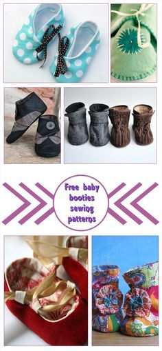 This is a little compilation of free baby booties sewing patterns. Baby booties are just adorable gifts, that you can make with very little fabric.
