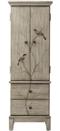 Chirp, chirp. A little birdie told us this jewelry armoire is perfect for storing all your prized accessories. HomeDecorators.com #12DaysofDeals #storage #organization