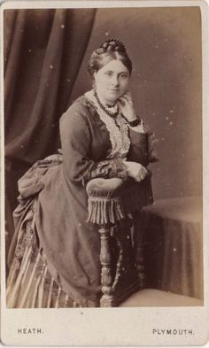 CDV photo Victorian Girl Hooped Dress Fashion - William Heath of Plymouth 1870s