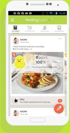 'HealingPaper' app for health care by Annasumi, via Behance