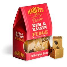 Hardys Rum and Raisin Fudge Photography – David Comiskey Copyright © 2015 Hardys Trading Ltd, All Rights Reserved. Cornish Cream Tea, British Sweets, Halal Snacks, Vanilla Fudge, Retro Sweets, Clotted Cream, Christmas Pudding, Mint Chocolate, Confectionery