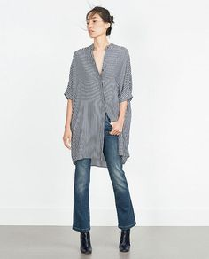 Discover the new ZARA collection online. Coats For Women, Clothes For Women, Relaxed Outfit, Mini Shirt Dress, Zara Shirt, Fashion Essentials, Zara Women, Casual Tops, Shirt Outfit