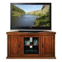 Burnished Oak 50-inch TV Stand & Media Console | Overstock™ Shopping - Great Deals on KD Furnishings Entertainment Centers