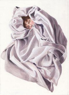 'Little Sleeper' 21 X 15 cm Acrylic on paper