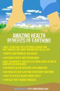 Amazing Health Benefits of  Earthing http://www.ionizeroasis.com/earthing/