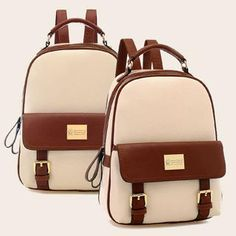 Buy 'BeiBaoBao – Faux-Leather Color-Block Backpack' with Free International Shipping at YesStyle.com. Browse and shop for thousands of Asian fashion items from China and more!
