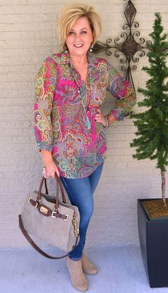 50 IS NOT OLD   HOW TO WEAR BRIGHT COLORS   Spring Outfit   Bright and colorful   Fashion over 40 for the everyday woman