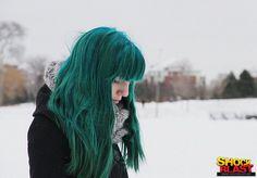 blauw haar!