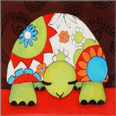 "Paragon Express Yourself Turtle by Weigel Waterfront Art - 36"" x 36"" - 4314"