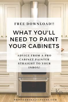 The Ultimate Cabinet Paint Supply List Painting Cabinets, Cabinet, Best Cabinet Paint, Refinishing Furniture, Primer For Kitchen Cabinets, Cleaning Cabinets, Paint Supplies, Kitchen Living, Kitchen Paint