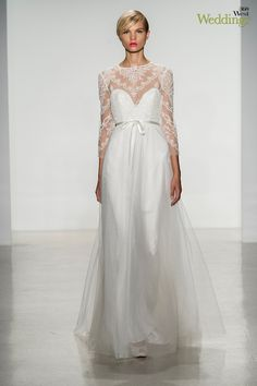 Amsale's dress with a nod to the 1960's can be found at Neiman Marcus Downtown or Stanley Korshak, 360 West Weddings, Fall 2014 #weddings #weddingdresses #weddinggowns #bridal #texasweddings