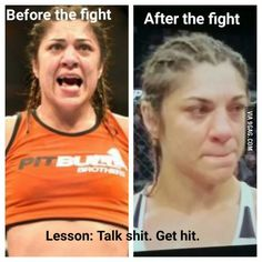 """Ronda Rousey finished her in 34 seconds...then walked over to her and said, """"Don't cry."""""""
