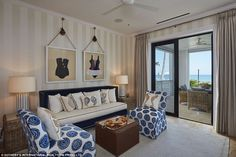 Aquatic adventure: One ocean-themed room featured seashell chairs, seahorse cushions and f...