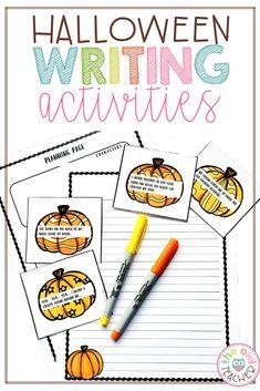 Halloween Writing Prompts and Story Starters - The Owl Teacher Teacher Lesson Plans, Teacher Resources, Teaching Tips, Teaching Math, Halloween Writing Prompts, Story Starters, Lesson Planning, Fun Time, Writing Activities