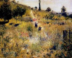 Path Leading Through Tall Grass 1877 Metal Print by Renoir PierreAuguste Oil Painting Gallery, Painting Frames, Impressionist Paintings, Impressionism, Impressionist Landscape, August Renoir, Carnegie Museum Of Art, Oil On Canvas, Canvas Prints