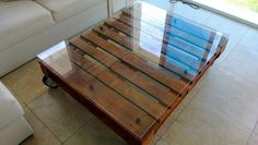 Pallet living room table