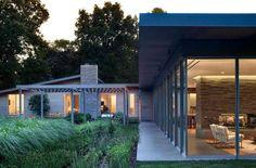 L-shaped house plan outdoor enhancing design