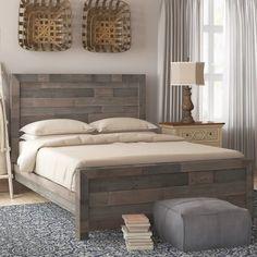 Diy King Bed Frame, Bed Frame Plans, Wooden Bed Frames, Wood Beds, Pallet Wood Bed Frame, Rustic Bed Frames, Pallet Bedframe, Home Bedroom, Bedroom Decor