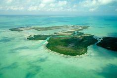 View over Belize islands