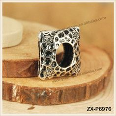 Tibetan Silver Metal Charm Square Spacer Beads Jewelry Findings Brass Material