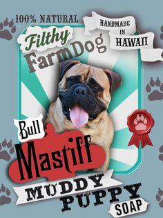 Bull Mastiff Muddy Puppy Dog Soap