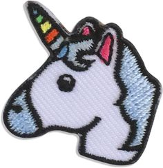 "Unicorns ARE real. Our Unicorn hipstapatch™ is an embroidered fabric patch that measures approximately 1"" x 1"" with a peel-and-stick adhesive backing. Stick it on your shoes, hat, backpack, cellphone"